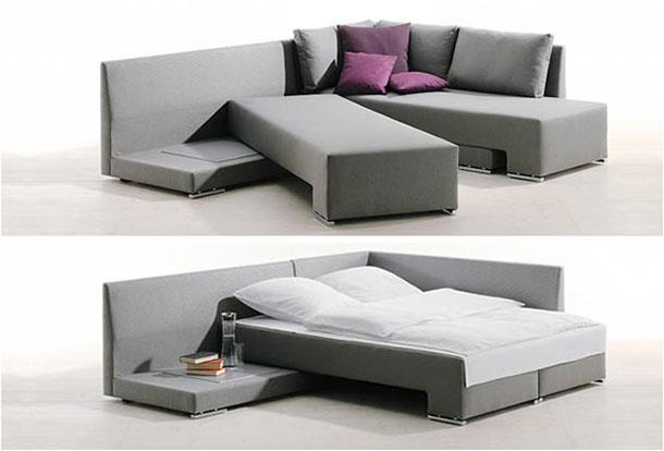 divano letto ad angolo look home
