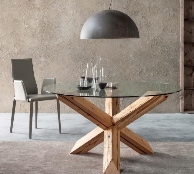tavolino x legno grezzo look home