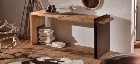tavolo libri legno grezzo look home