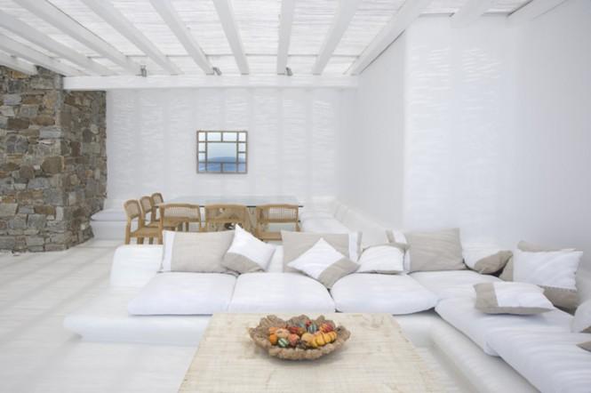 interni bianchi con pietra look home