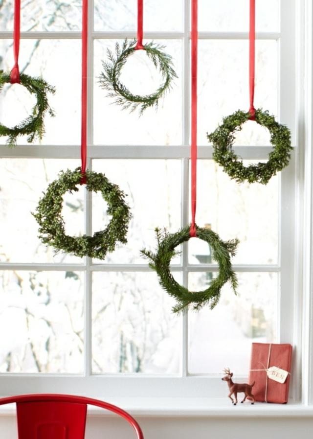 decorazioni natale finestre ghirlande look home
