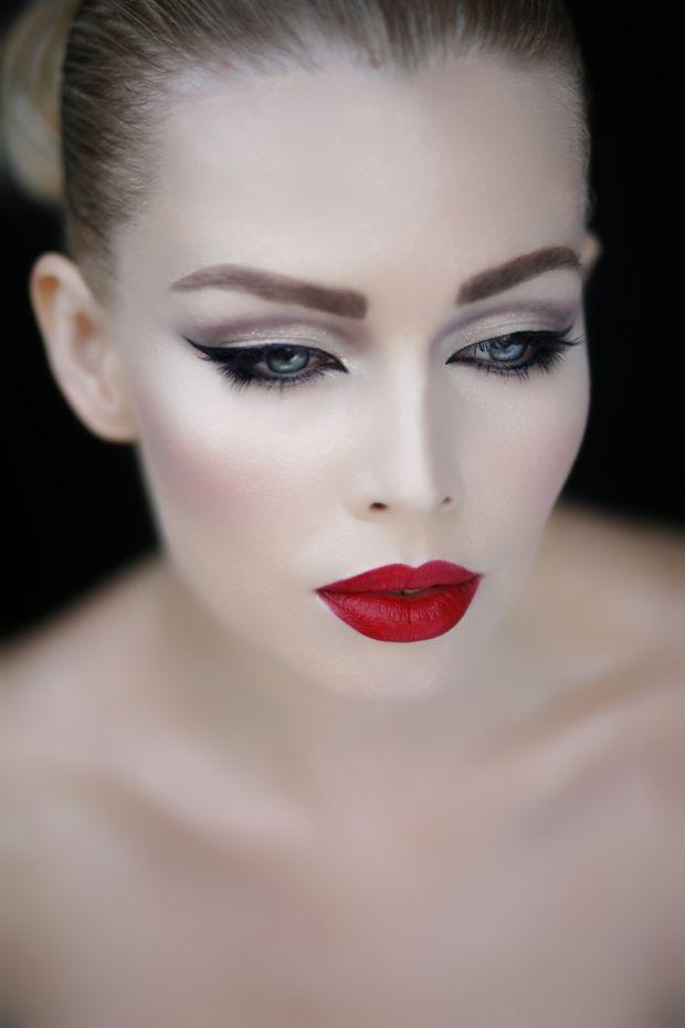 rosso nei make-up delle feste 3