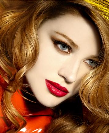 rosso nei make-up delle feste