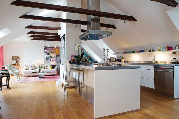 cucina e salotto openspace look home