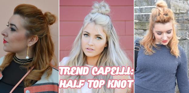 trend half top knot