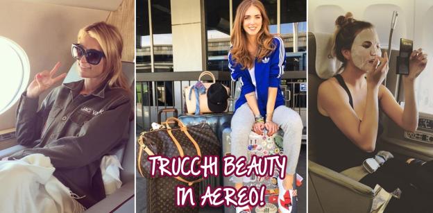 Trucchi beauty in aereo