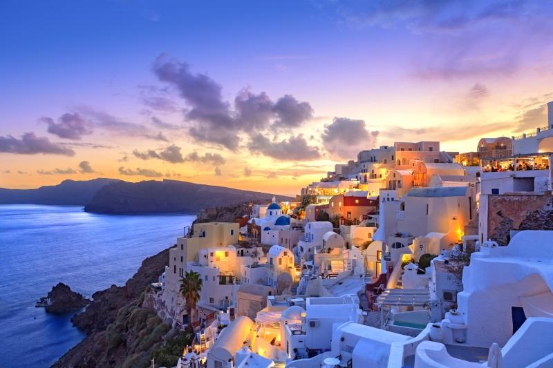 Santorini al tramonto