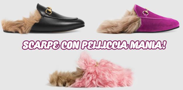 scarpe con pelliccia
