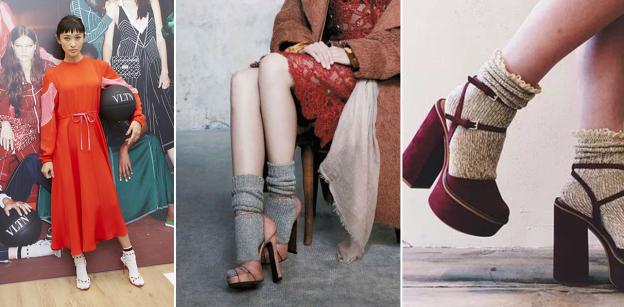 trend sandali con calzini