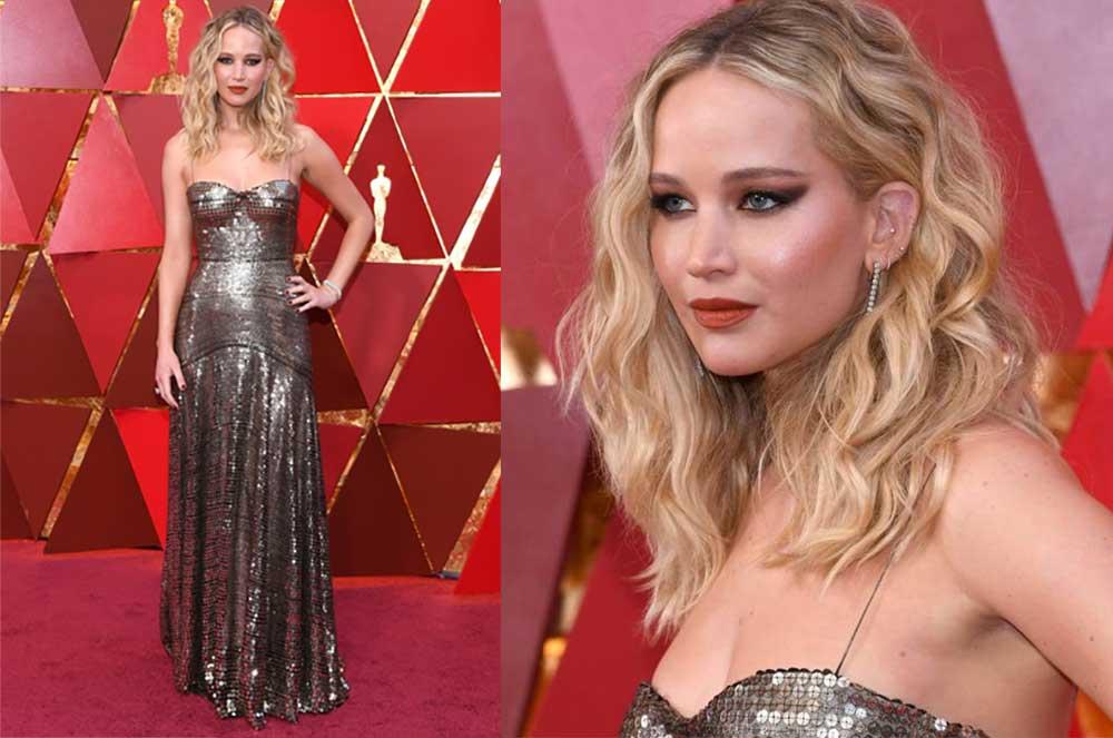 look oscar 2018 Jennifer Lawrence in Christian Dior