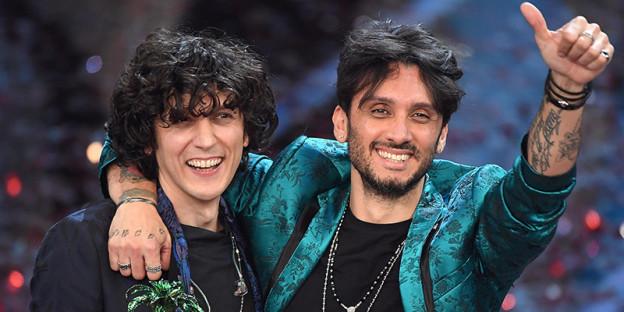 Eurovision song contest 2018 Italia con Ermal Meta e Fabrizio Moro.