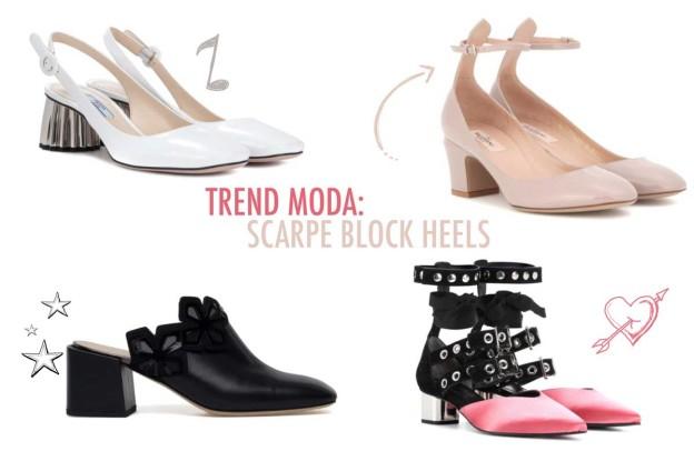 trend moda le scarpe block heels per l'estate