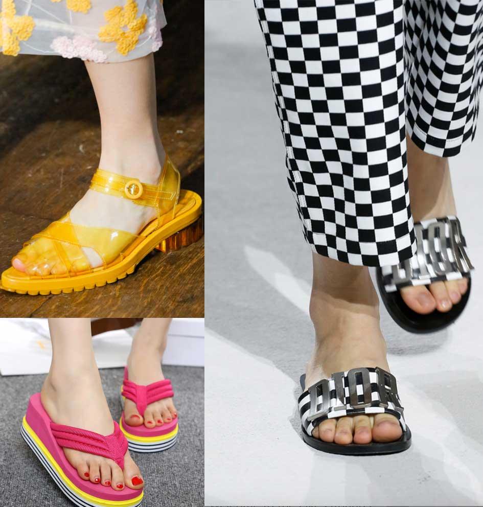 scarpe di gomma per l'estate 2018
